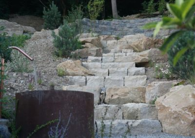 FROMMER gartenreich - Natursteintreppe
